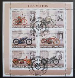 Poštovní známky Komory 2008 Staré motocykly Mi# 1837-42 Kat 14€