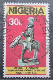 Poštovní známka Nigérie 1978 Bronzová socha Mi# 353