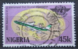 Poštovní známka Nigérie 1984 Letadlo Mi# 451