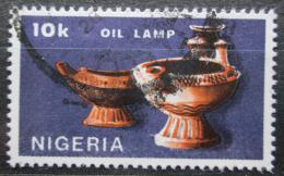 Poštovní známka Nigérie 1990 Olejová lampa Mi# 547