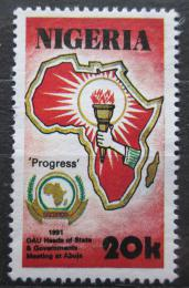 Poštovní známka Nigérie 1991 Organizace africké jednoty Mi# 568