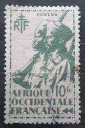 Poštovní známka Francouzská Západní Afrika 1945 Koloniální vojáci Mi# 20