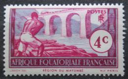 Poštovní známka Francouzská Rovníková Afrika 1937 Drvoštìp z Mayumbe Mi# 30