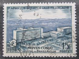 Poštovní známka Francouzská Rovníková Afrika 1956 Nemocnice v Brazzaville Mi# 300