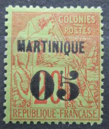 Poštovní známka Martinik 1891 Koloniální alegorie pøetisk Mi# 6 Kat 19€
