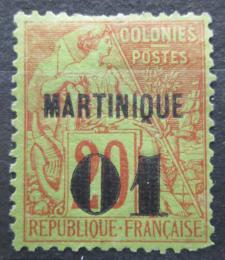 Poštovní známka Martinik 1888 Koloniální alegorie pøetisk Mi# 3 Kat 24€