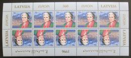 Poštovní známky Lotyšsko 1996 Evropa CEPT, Zenta Mauriņa Mi# 423 Bogen Kat 20€