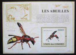 Poštovní známka Komory 2009 Hmyz Mi# Block 472 Kat 15€