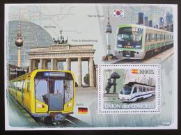 Poštovní známka Komory 2009 Metro Mi# Block 438 Kat 15€