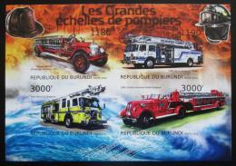 Poštovní známky Burundi 2012 Hasièská auta neperf. Mi# 2898-2901 B