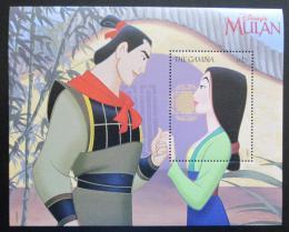 Poštovní známka Gambie 1998 Disney, Mulan Mi# Block 387 Kat 9€