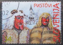 Poštovní známka Slovinsko 2000 Karnevalové masky Mi# 282