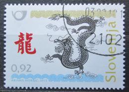 Poštovní známka Slovinsko 2012 Èínský nový rok, rok draka Mi# 946