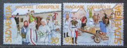 Poštovní známky Slovinsko 2001 Karneval Mi# 338-39