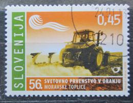 Poštovní známka Slovinsko 2009 Traktor s pluhem Mi# 729