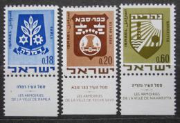 Poštovní známky Izrael 1970 Mìstské znaky Mi# 486-88