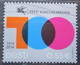 Poštovní známka Estonsko 2014 Akademie umìní Mi# 804