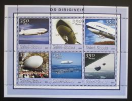 Poštovní známky Guinea-Bissau 2001 Vzducholodì Mi# 1779-84 Kat 9€