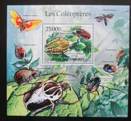 Poštovní známka Komory 2011 Brouci Mi# Block 617 Kat 13€