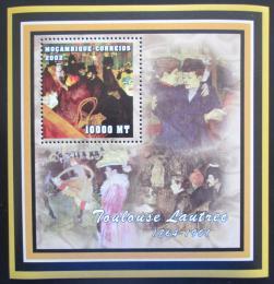 Poštovní známka Mosambik 2002 Umìní, Toulouse Lautrec Mi# N/N