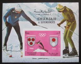 Poštovní známka Šardžá 1972 ZOH Sapporo a Grenoble Mi# Block 157 Kat 8€