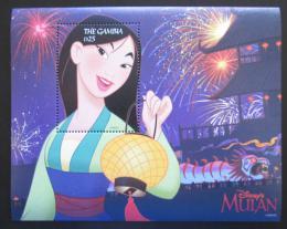 Poštovní známka Gambie 1998 Disney, Mulan Mi# Block 384 Kat 9€