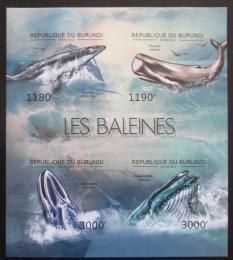 Poštovní známky Burundi 2012 Velryby neperf. Mi# 2838-41 B