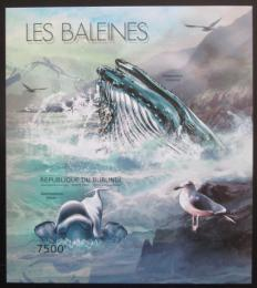 Poštovní známka Burundi 2012 Velryby neperf. Mi# Block 292 B