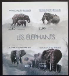 Poštovní známky Burundi 2012 Sloni neperf. Mi# 2833-36 B