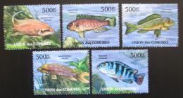 Poštovní známky Komory 2011 Ryby Mi# 2996-3001 Kat 12€