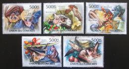 Poštovní známky Komory 2011 Netopýøi Mi# 3053-57 Kat 12€