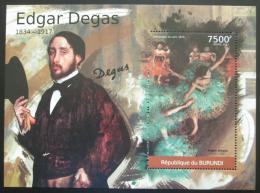 Poštovní známka Burundi 2012 Umìní, Edgar Degas Mi# Block 204 Kat 9€
