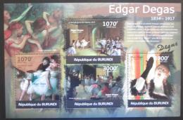 Poštovní známky Burundi 2012 Umìní, Edgar Degas Mi# 2347-50 Kat 10€