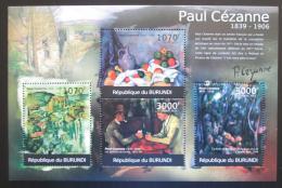 Poštovní známky Burundi 2012 Umìní, Paul Cézanne Mi# 2351-54 Kat 10€