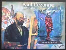 Poštovní známka Burundi 2012 Umìní, Paul Cézanne Mi# Block 205 Kat 9€