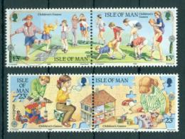Poštovní známky Ostrov Man 1989 Evropa CEPT, dìtské hry Mi# 404-07