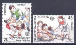 Poštovní známky Andorra Šp. 1989 Evropa CEPT, dìtské hry Mi# 209-10