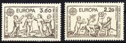 Poštovní známky Andorra Fr. 1989 Evropa CEPT, dìtské hry Mi# 399-400 Kat 7€
