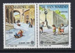 Poštovní známky San Marino 1989 Evropa CEPT, dìtské hry Mi# 1407-08 Kat 10€