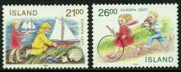 Poštovní známky Island 1989 Evropa CEPT, dìtské hry Mi# 701-02