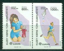 Poštovní známky Kypr Tur. 1989 Evropa CEPT, dìtské hry Mi# 249-50 C Kat 6€