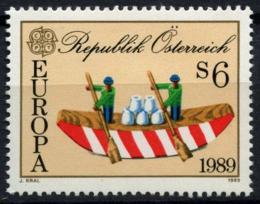 Poštovní známka Rakousko 1989 Evropa CEPT, dìtské hry Mi# 1956