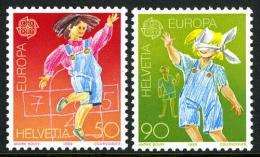 Poštovní známky Švýcarsko 1989 Evropa CEPT, dìtské hry Mi# 1391-92