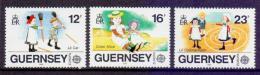 Poštovní známky Guernsey 1989 Evropa CEPT, dìtské hry Mi# 449-51