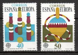 Poštovní známky Španìlsko 1989 Evropa CEPT, dìtské hry Mi# 2885-86