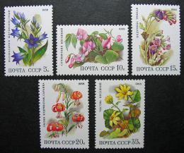 Poštovní známky SSSR 1988 Kvìtiny Mi# 5847-51