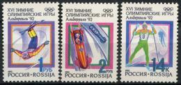 Poštovní známky Rusko 1992 ZOH Albertville Mi# 220-22