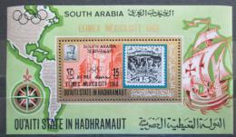 Poštovní známka Aden Qu´aiti 1967 Výstava EFIMEX Mi# Block 26 Kat 14€