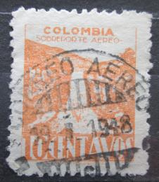 Poštovní známka Kolumbie 1945 Vodopády Tequendama Mi# 467