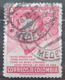 Poštovní známka Kolumbie 1956 Javier Pereira Mi# 797